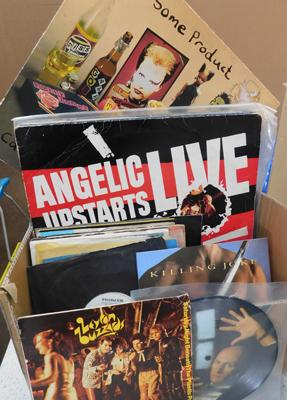 Approx. 50 New Wave Indie & Punk LPs & singles, incl. Angelic Upstarts, Pistols, Tubes, Squeeze etc...