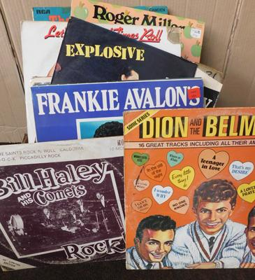 Box of records - Country & Rock & Roll