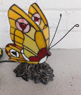 Tiffany style butterfly lamp in working order