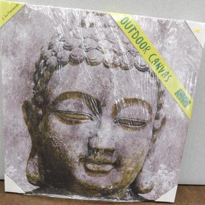 "Buddha outdoor canvas - 31"" square"