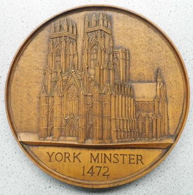 York Minister Wooden Plaque