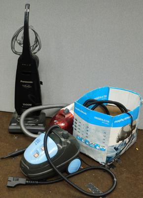 Three vacuum cleaners - as seen + accessories
