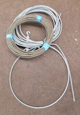Two lengths of steel rope