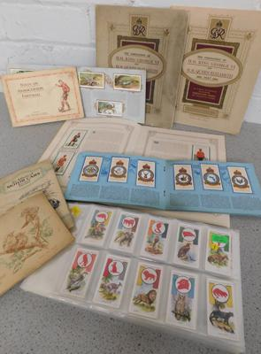 40 pages of mixed cigarette cards & eight albums