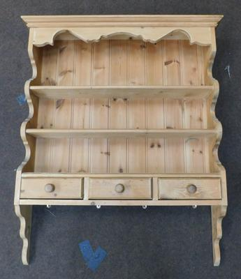 Pine wall dresser - approx. 36 inches wide & 43 inches tall
