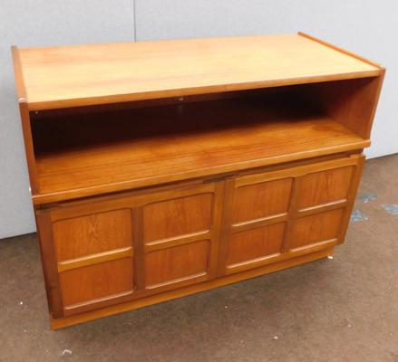 Mid century teak two door cabinet by Nathan
