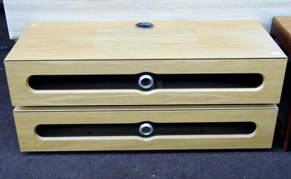 Modern design, heavy duty TV cabinet - approx. 43 inches wide