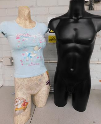 Two mannequins - male & female