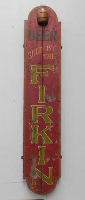 Beer sold by the Firkin vintage pub display sign - approx. 45 inches tall