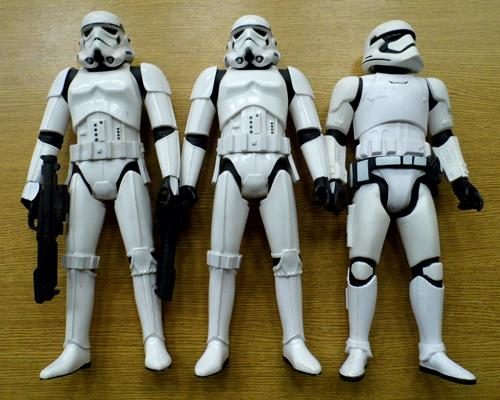 Three large storm trooper figures (17 inches tall)