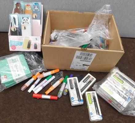 Box of mainly Pilot pens and markers