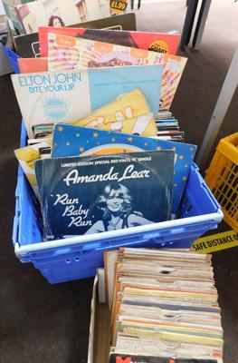 Large box of records - 12 inch singles + 7 inch singles