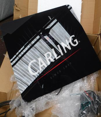 Indoor Carling electric display sign, approx. 14 inches square