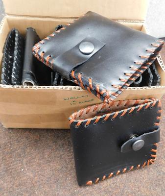 Leather wallets, handmade x 10