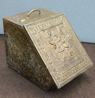 Vintage brass coal box (no lining)