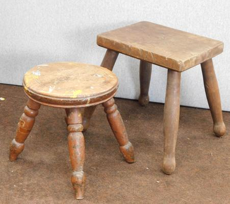 pair of vintage small stools