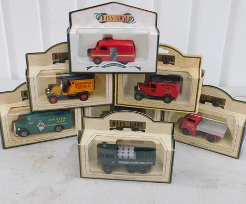 7 diecast cars - boxed Days Gone
