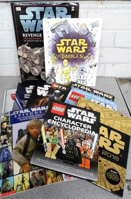 Large assortment of Star Wars books