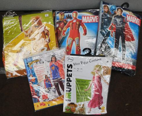 Five new/sealed costumes including Marvel, Muppets etc.