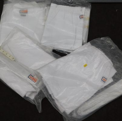 4 x white karate suits