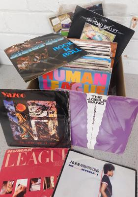 Box of records - picture sleeve singles