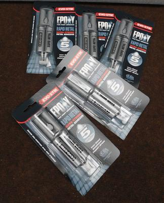 Five new sealed Epoxy metal adhesive packs