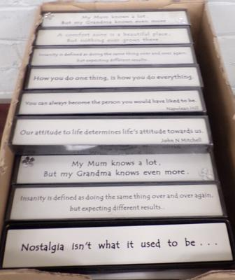 78 Block Art plaques, different sayings