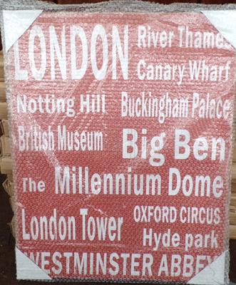 10 large canvases (London theme)