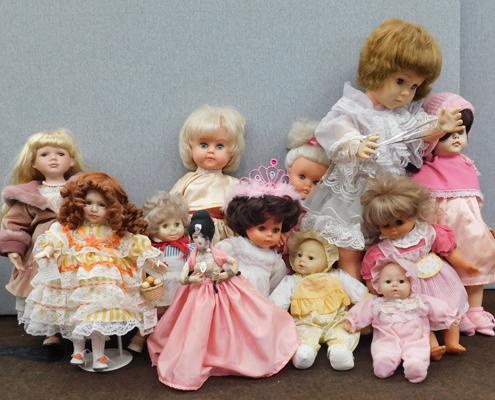 Collection of vintage dolls etc.