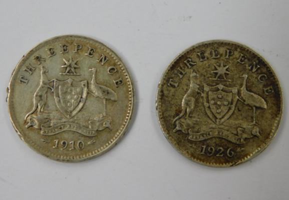 1910 and 1926 Australian 3ds