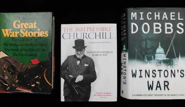 3 x Churchill collectors books, incl. Winstons War, The Irrepressible Churchill