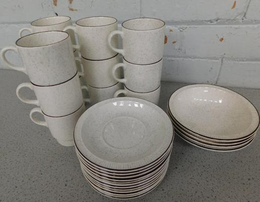 Poole coffee set 12 cups, 12 saucers and 4 bowls