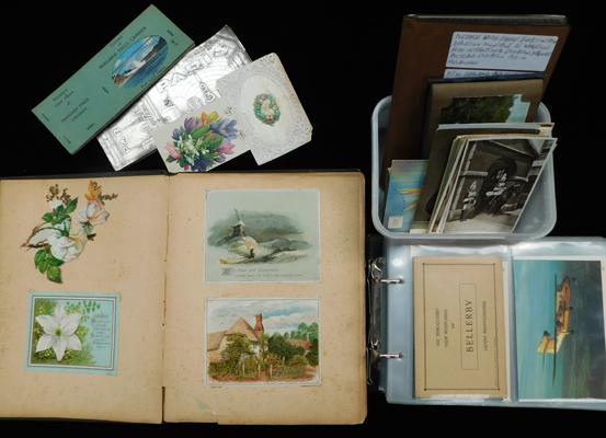 Collection of postcards - loose & in albums