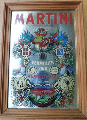 Martini & Rossi advertising mirror (13 x 9 inches)