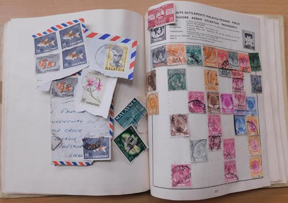 Album of commonwealth and world stamps