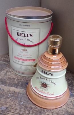 Large Bells whisky bottle - full and sealed in carry case