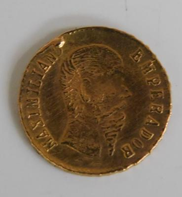 1865 Mexico Gold Coin (re-strike)