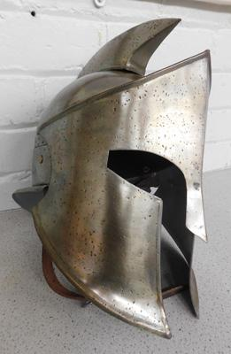 Spartan helmet replica from film 300 with leather adjustable straps