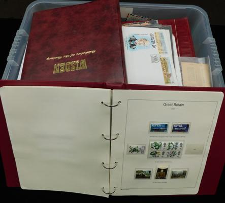 Large box of stamp albums incl. mint GB