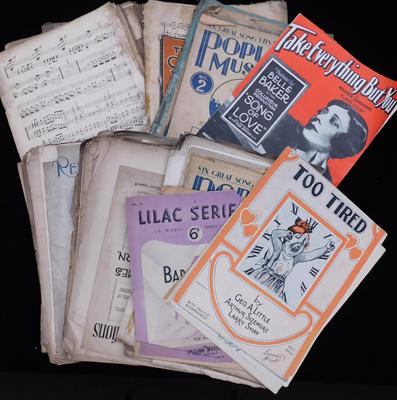 Large collection of piano sheet music (1937-1950)