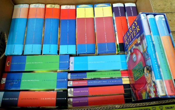 19 Harry Potter hardback books, some 1st editions
