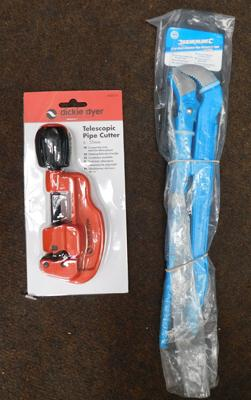Silverline pipe wrench Dickie Dyer adjustable pipe cutter