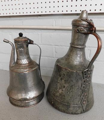 Large metal bottle and water carrier