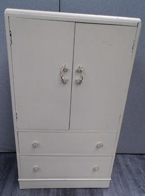 Vintage painted drawer and cupboard unit