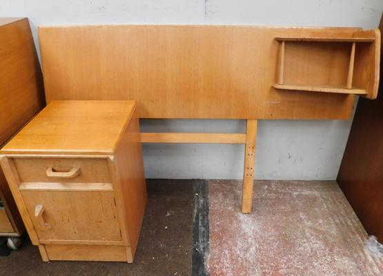 Mid Century headboard and bedside cabinet