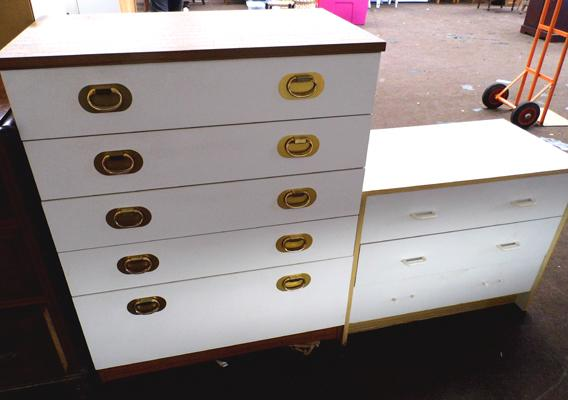 Two sets of bedroom drawers (as seen)