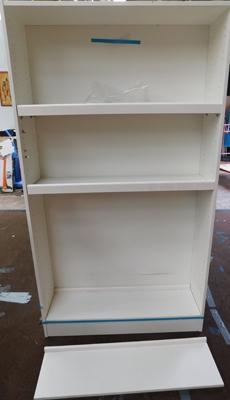 Large display/ shelving/ book case - 4 movable shelves - approx. 40 x 7""