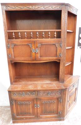 Old charm oak cabinet and matching corner unit