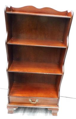 Three shelf book cabinet with drawer
