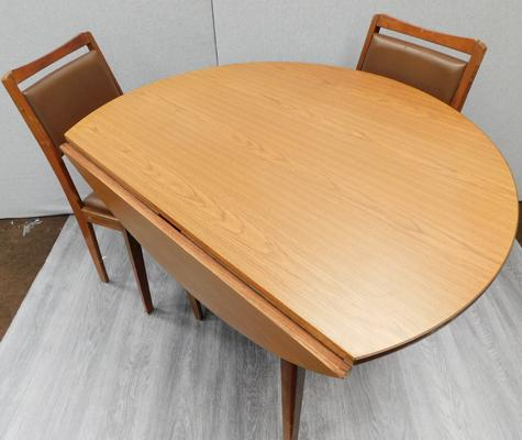 Circular folding table (42 inches in diameter) & 2 chairs